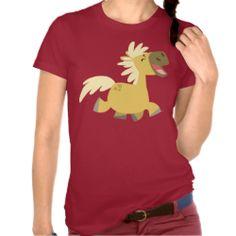Laughing Cartoon Pony Women T-shirt #tshirts #pony #palomino #horse #laugh #cheerfulmadness #gifts #women #ForHer #customizable
