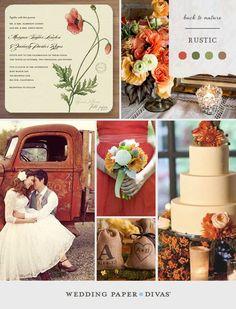 Rustic Wedding Inspiration Board from Wedding Paper Divas Wedding Themes, Wedding Styles, Wedding Decorations, Wedding Ideas, Wedding Color Schemes, Wedding Colors, Wedding Flowers, Fall Wedding, Our Wedding