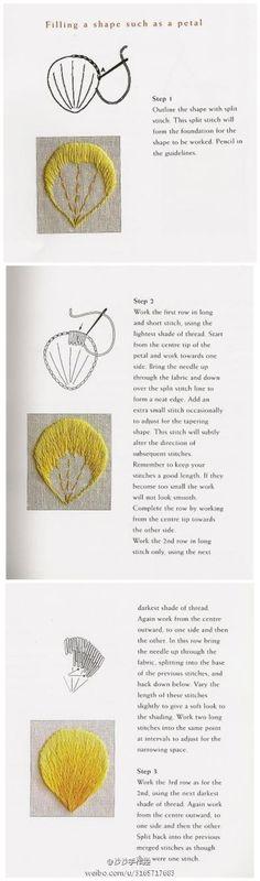 【沙沙】刺绣 长短针 教程 针法