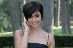 Ambra Angiolini short haircut