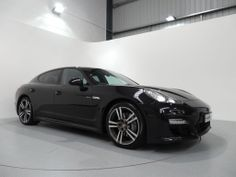 Porsche Panamera Diesel Finished in Basalt Black with Black Leather Interior. For more details: http://www.simonjamescars.co.uk/porsche-panamera-d-v6-tiptronic-in-derbyshire-3574468