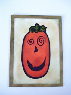 Happy Halloween Greeting Card, Spider, Pumpkin, Kids, Friend on Etsy, $4.00
