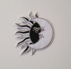 Sun and Moon Iron on Patch by PurpleSharks on Etsy