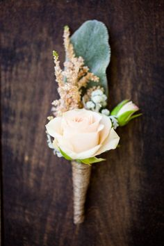 Boutonnières and corsages. Lambs ear and mini pale roses. Sub Ranunculus NO Roses but I like the Lambs ear