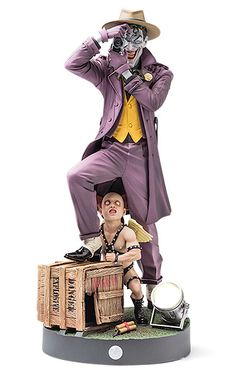 "Joker - The Killing Joke Statue 11"" w. motion sensor LED camera flash and shutter sound $99.99"
