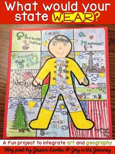 ~Joy in the Journey~: What Would Your State WEAR? Fun and easy project that integrates art and geography.