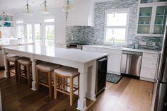 Coastal-inspired Home Renovation Kitchen Wall Tiles, Kitchen Paint, Kitchen Backsplash, Cocinas Kitchen, Interior Design, Coastal Interior, Modern Coastal, Diy Home Repair, Inspired Homes