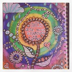 Instagram photo. Art journal page by Zoe Ford / TopFloorTreasures  #artjournalpages #mixedmedia