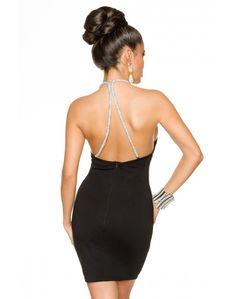 Črna modna obleka