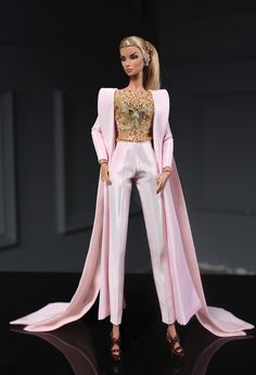 Pink jumpsuit fit fashion royalty nu face poppy parker barbie silkstone lovestones 12 fashion doll same size you receive pink jumpsuit earing doll and other accessories are not included thank you for watching rimdoll Fashion Dolls, Fashion Royalty Dolls, Moda Fashion, Fashion Outfits, Barbie Gowns, Barbie Dress, Barbie Clothes, Barbie Style, Barbie Mode