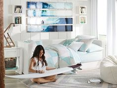 I love the PBteen Kelly Slater Geo Bedroom on pbteen.com