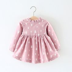6443388000a Fabal Autumn Winter Baby Girls Dress Long Sleeve Princess Tutu Kids Party  Dress Fleece Waistcoat Pink