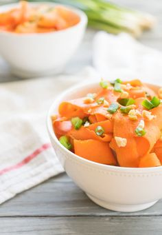 Miso-Marinated Shaved Carrot Salad