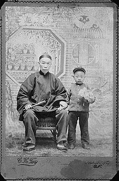 Chun Jan Yut with his father Chun Duck Chin, 1899