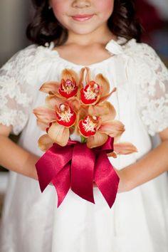 lovely flower girl shot