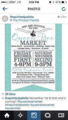 Queen Bee Market flyer