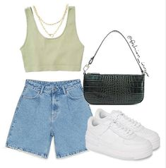 Teen Fashion Outfits, Retro Outfits, Look Fashion, Trendy Outfits, Korean Fashion, Summer Outfits, Girl Outfits, Fashion Jobs, Urban Outfits