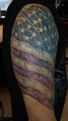 American Flag Tattoo – Tattoos by MorganJC