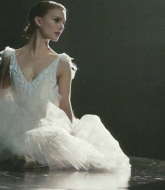 Natalie Portman on the set of Black Swan
