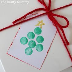 Christmas tree tag stamped