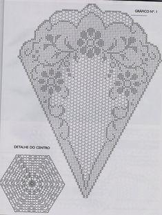 Archives de l& - Filet Crochet, Crochet Doily Diagram, Crochet Doily Patterns, Crochet Round, Crochet Chart, Thread Crochet, Crochet Designs, Crochet Doilies, Hand Crochet