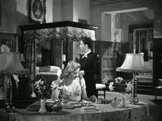 Mrs. De Winter's bedroom in the classic Rebecca