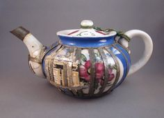 Past Imperfect: Russian teapot with metal cage repair, c.1910