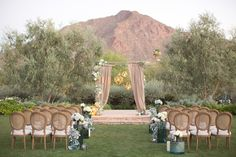 wedding ceremony decor - photo by Amy and Jordan Photography http://ruffledblog.com/paradise-valley-wedding-inspiration