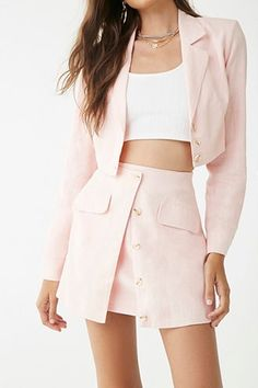 cute girly outfits with jeans Crop Top Outfits, Blazer Outfits, Girly Outfits, Cute Casual Outfits, Pretty Outfits, Stylish Outfits, Dress Outfits, Casual Blazer, Blazer Dress