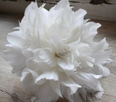 eBook- Feather Flower A -  Materials Are Not Included. $9.00, via Etsy.