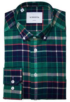 Tenterden Green Men's Casual Flannel Shirt
