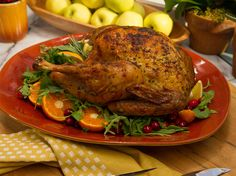 Crispy-Skinned Herb-Roasted Turkey recipe from Jeff Mauro via Food Network