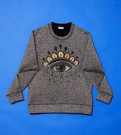 #Kenzo #Eye #Christmas #Sweat #men #fashion #style  https://www.kenzo.com/en/shop/women_101/christmas-night_1354/eye-christmas-sweat_10202/