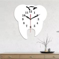 3d Wall Clock, Wall Clock Wooden, Diy Clock, Clock Decor, Clock Numbers, Teeth Shape, Acrylic Mirror, Blank Walls, Acrylic Colors