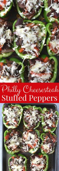 Philly Cheesesteak Stuffed Peppers are loaded with steak, peppers, onions, mushrooms and melted cheese for a healthy dinner that the family will love! www.nutritionistreviews.com #peppers #steak #cheesesteak #healthy #healthydinner #cleaneating #stuffedpeppers Healthy Cookie Recipes, Peanut Butter Recipes, Healthy Cookies, Enchilada Casserole, Bean Casserole, Clean Eating Dinner, Clean Eating Recipes, Kinds Of Steak, Teriyaki Steak