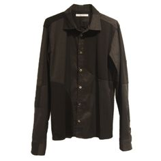 zero - Symmetric Cut Stretch Shirt / Black - 30,900JPY