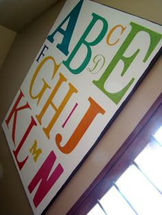DIY Canvas Alphabet