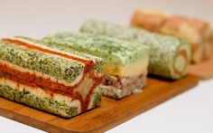Look. Listen. Smell. Eat.: BUTTER TERRINE | compound butter terrines - these almost look too pretty to eat!