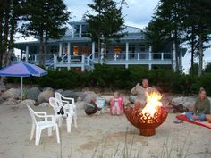 The Great Bowl O Fire is a great way to keep the ashes and coals out of your beach sand! Thanks for the photos, Cathy.