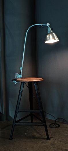Midgard Industrial Lamp on a Rowac stool @ funcfurniture.de
