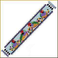 Beautiful 4 Finches Peyote Bracelet Pattern by Kristyz on Etsy