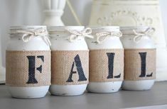 Rustic Fall Home DecorRustic Thanksgiving by JarfulHouse on Etsy
