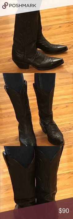 Dan Post cowboy boots , size 6.5 Worn twice, look new, super condition, so cute, embroidered pattern so cute, my daughter just never wears Dan Post Shoes Heeled Boots
