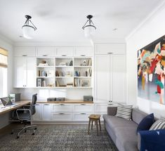 9 Home Office Ideas for Your Most Productive Space Yet. Americana Home Decor. 37638240 Home Decor Stencils. 5 Home Office Decorating Ideas Home Office Storage, Home Office Space, Home Office Decor, Office Desk, Office Organization, Office Setup, Small Office, Family Office, Office Playroom