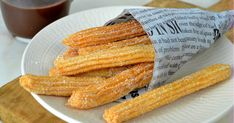 How to make homemade churros The easiest recipe in the world! - No Se - Dessert Easiest Recipe In The World, Homemade Churros Recipe, Fun Desserts, Dessert Recipes, Peruvian Desserts, Sweet Little Things, Milk Cake, Pastry And Bakery, Breakfast Items