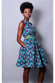 african fashion #dress #dutchwax
