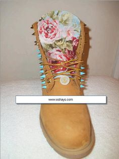 * These are authentic Timberland Boots and fabric is placed on the tongue and back of the shoes. (You can request boots without spikes or an Off Brand BOOT FOR CHEAPER PRICE). USA customers can mail t