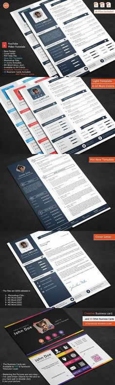 Smasher CV Resume. Creative Business Card Templates