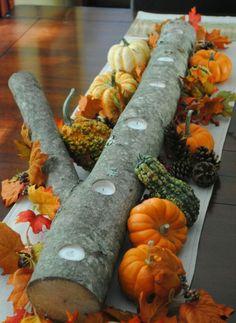 Herbsttischdeko Kürbis