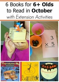 October Book Picks for Age 6 and Older with Book Extension Activities